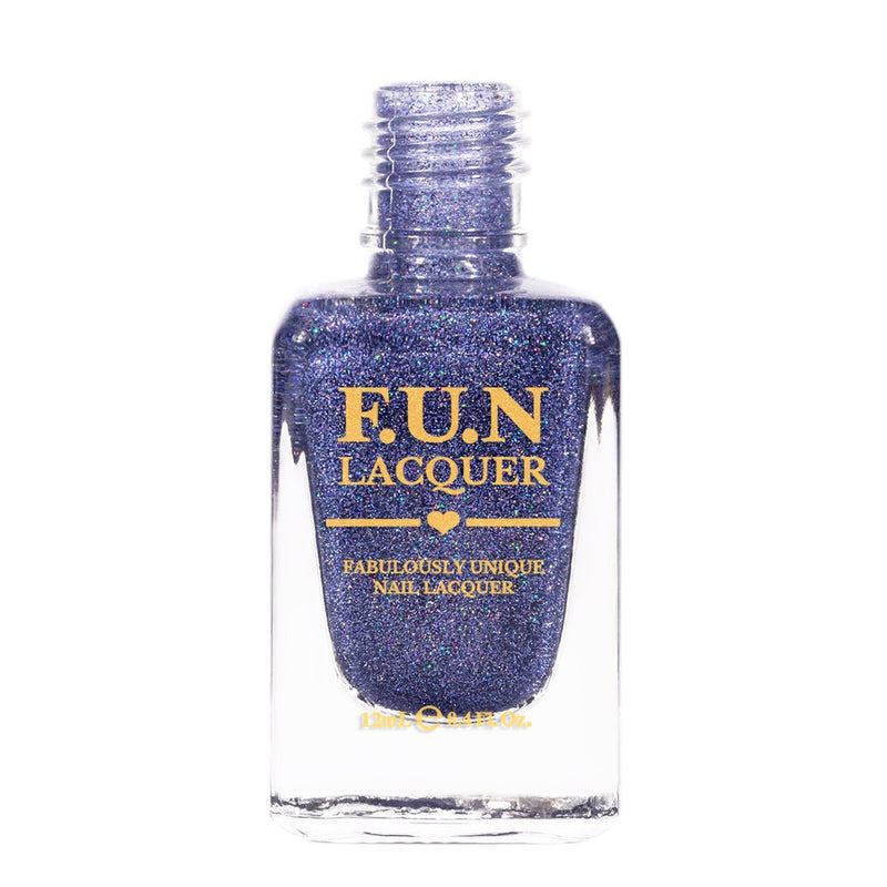 Rendezvous Denim Blue Holographic Glitter Nail Polish