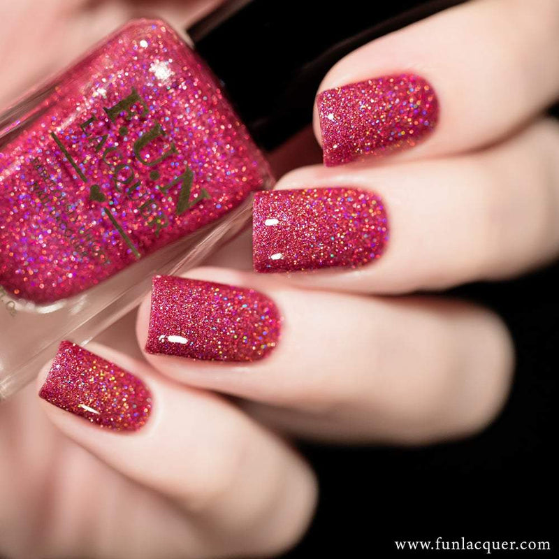 True Love Ruby Pink Holographic Nail Polish