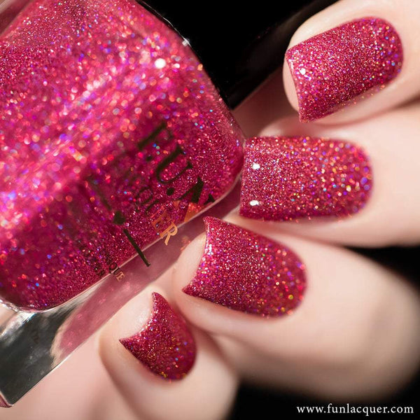 True Love Ruby Pink Holo Glitter Nail Polish