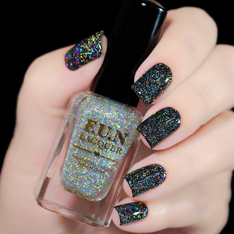 Diamond Dust Scattered Holographic Topper
