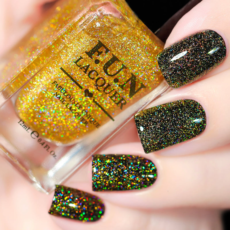 Gold Diamond Dust Gold Scattered Holo Top Coat