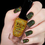 Gold Diamond Dust Scattered Gold Holographic Topper