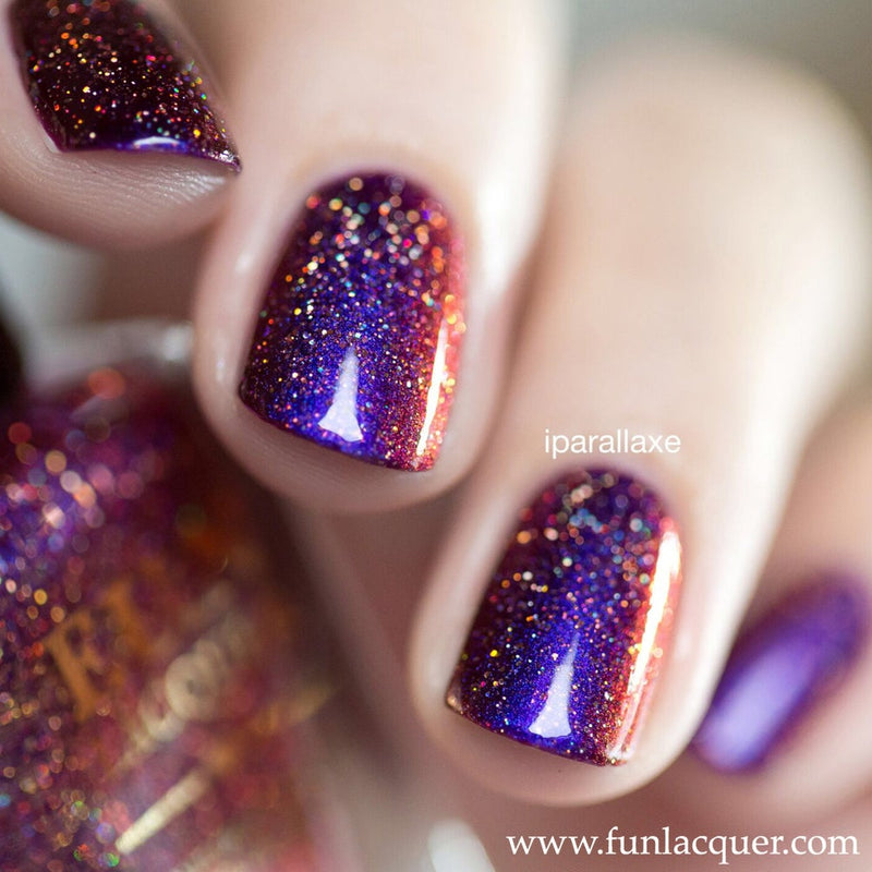 Fun Lacquer Holographic Multichrome  Cheers To The Holidays H