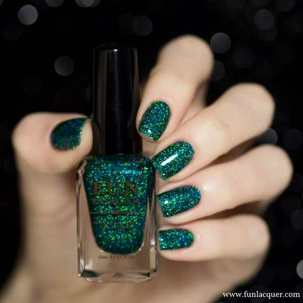 Secret Green Holographic Glitter Nail Polish