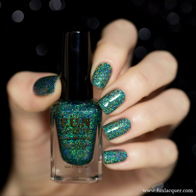 Secret (H) Green Holo Glitter Nail Polish