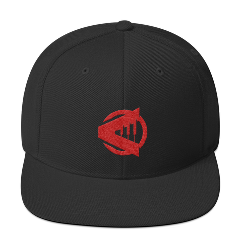 Rising Note Red Logo Snapback Hat