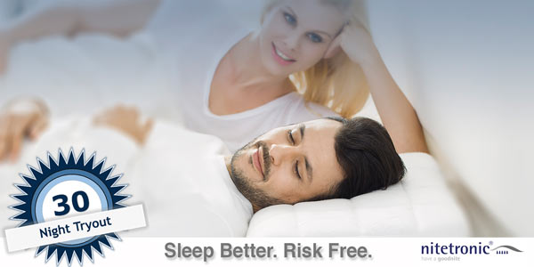 30 night risk free trial anti snore pillow
