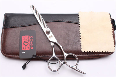 "Top Grade 6.0"" 17.5cm Japan Stainless Kasho Silver Professional Hairdressing Scissors"