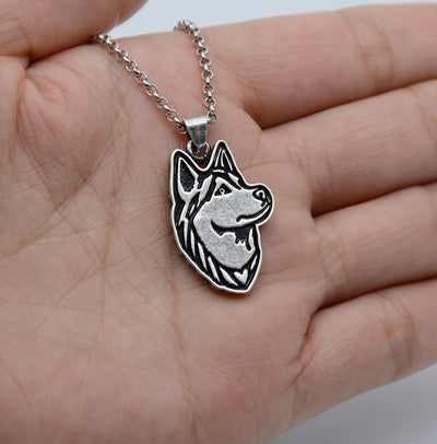 Vintage Silver Plated Siberian Husky Necklace - Direct Discount Outlet
