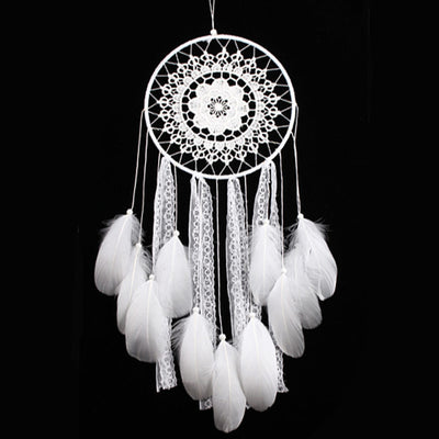 Creative White Feather Big Dream Catcher - Direct Discount Outlet