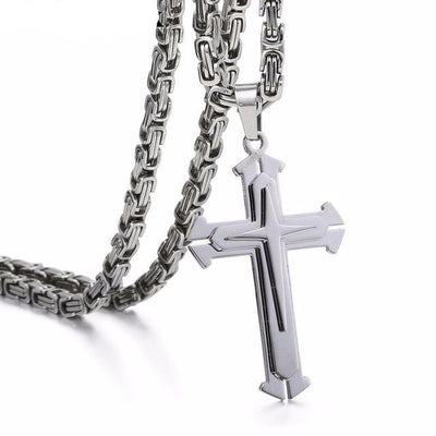 The Knight™ -  Stainless Steel Cross Chain - Direct Discount Outlet