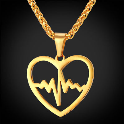 Golden Heartbeat Necklace - Direct Discount Outlet