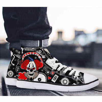 High-top Skull Canvas Shoes - Direct Discount Outlet