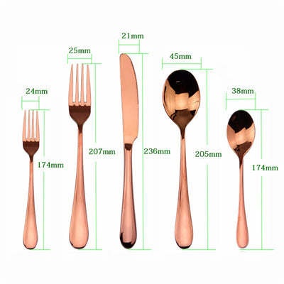 High Grade Rose Gold Stainless Utensil - Direct Discount Outlet