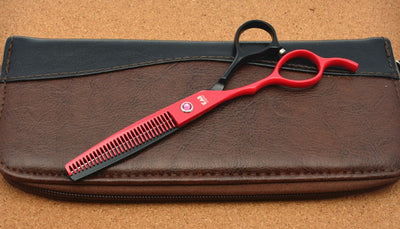 4Pcs Set Left Hand 5.5''/6.0''  Red Hairdressing Shears - Direct Discount Outlet