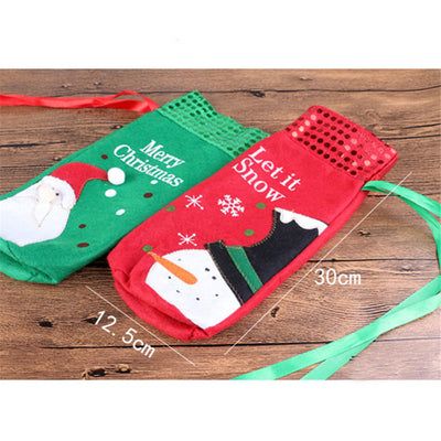 Christmas Wine Bottle Cover Bag - Direct Discount Outlet