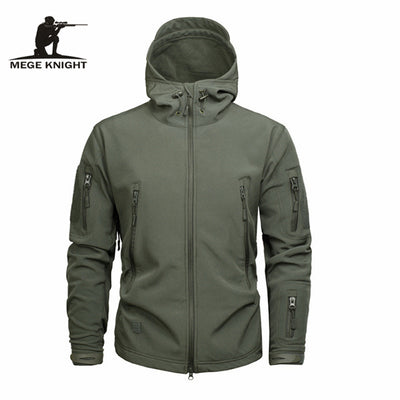 Autumn Men's Military Camouflage Fleece Jacket - Direct Discount Outlet