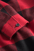 T Coat Wool – Red / Black