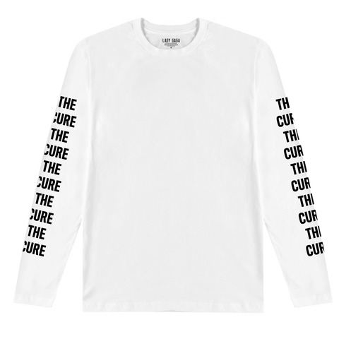 THE CURE WHITE LONG SLEEVE T-SHIRT