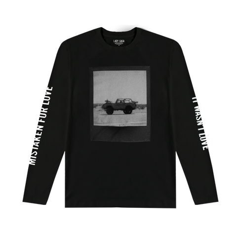 MISTAKEN FOR LOVE JEEP POLAROID BLACK LONG SLEEVE T SHIRT