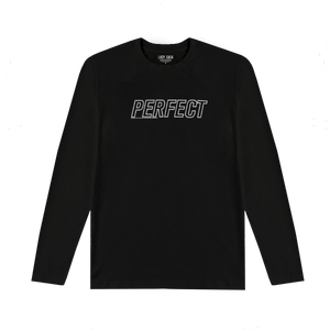 PERFECT ILLUSION BLACK ATHLETIC LONG SLEEVE T-SHIRT