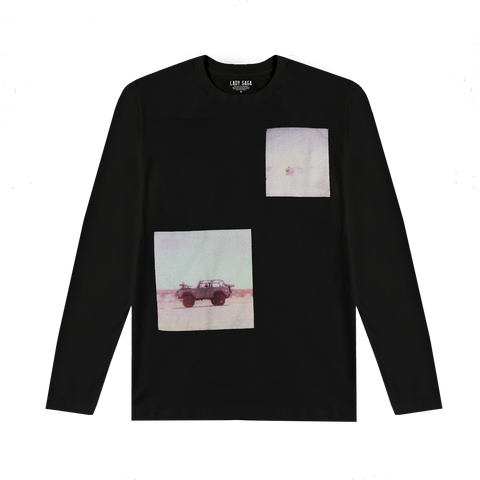 POLAROID BLACK LONG SLEEVE T SHIRT