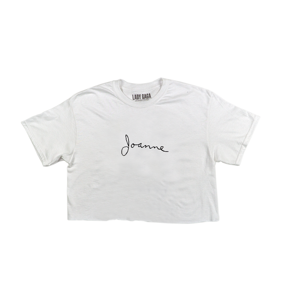 d4852c11d6f JOANNE SCRIPT WHITE CROP TOP – Lady Gaga Official Shop