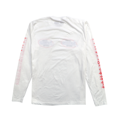 FLAMES WHITE LONG SLEEVE T-SHIRT