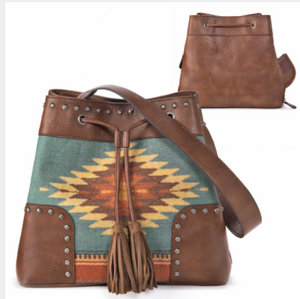 M&F Western Zapotec Conceal and Carry Bucket Tote