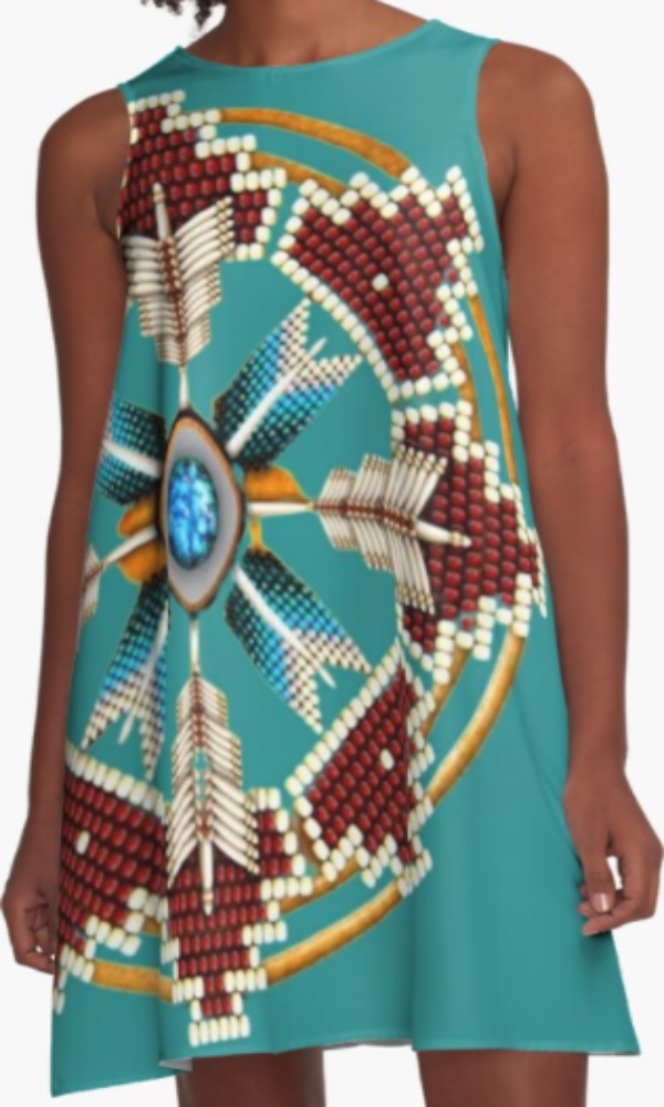 Cowgirl Kim Tribal Mandala A-Line Dress