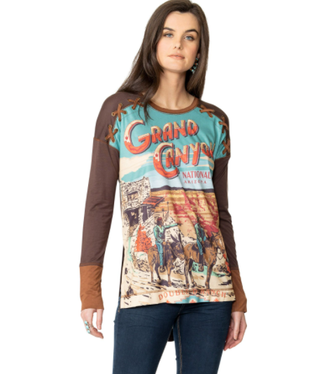 Double D Ranchwear Grand Canyon National Park Travel Top