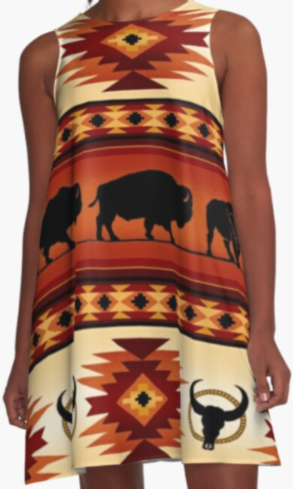 Cowgirl Kim Buffalo Canyon A-Line Dress