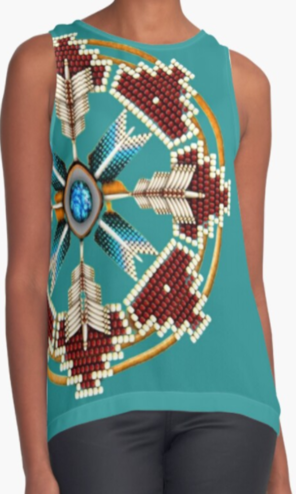 Cowgirl Kim Tribal Mandala Sleeveless Top