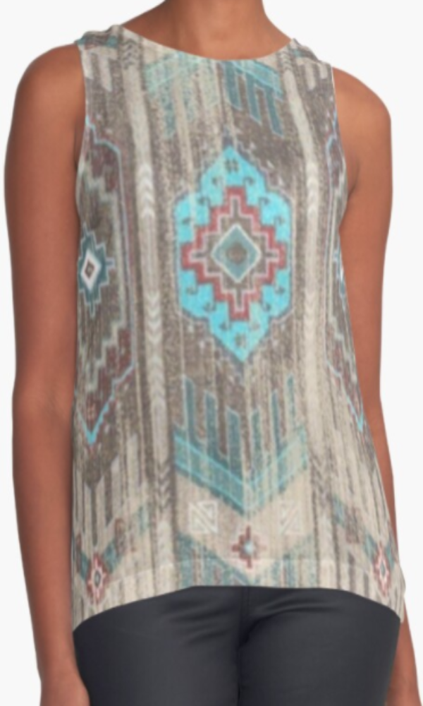Cowgirl Kim Faded Comanche Ash Sleeveless Top