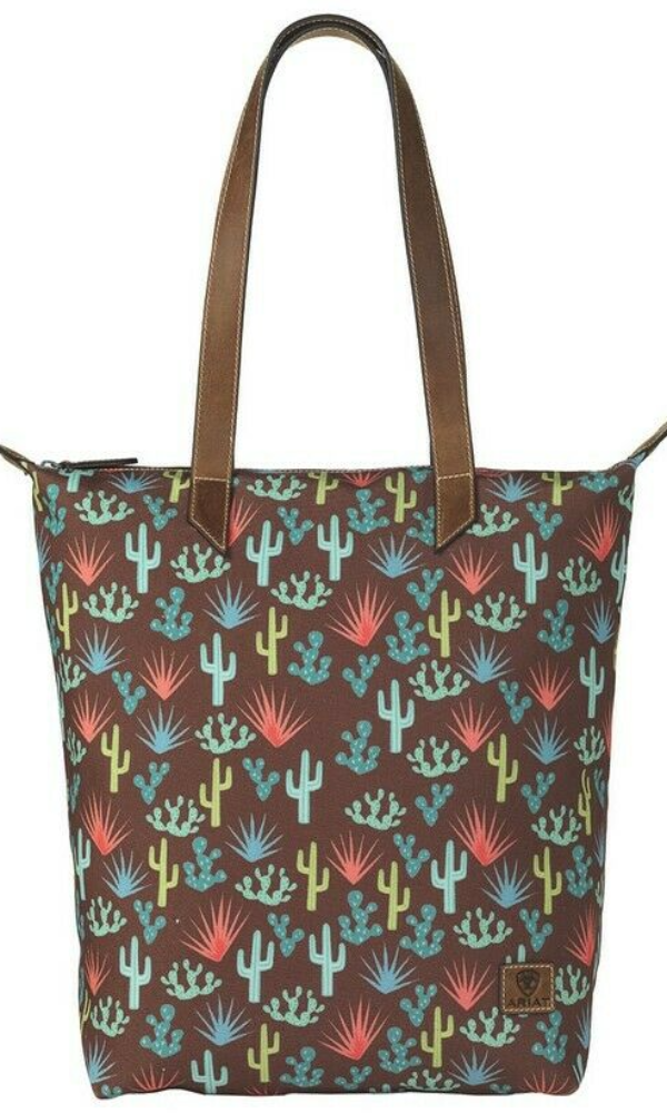 Ariat Cactus Brown Cruiser Tote Bag