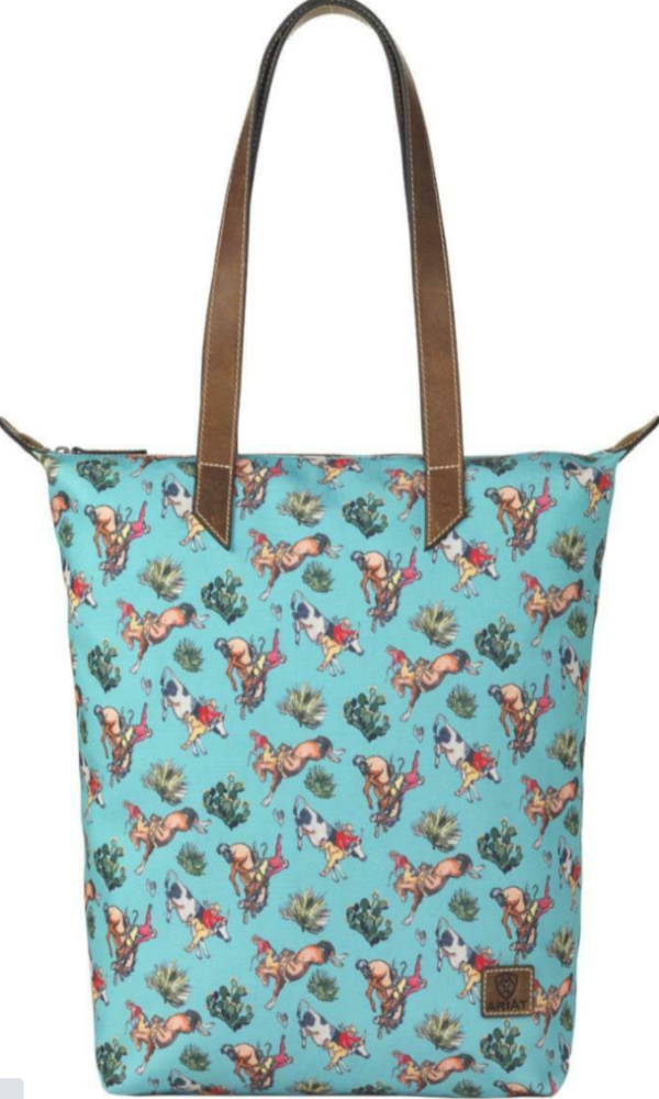 Ariat Bronco Turquoise Cruiser Tote Bag