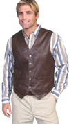 Scully Men's Brown Soft Touch Lamb Vest