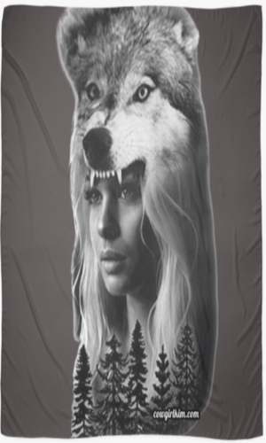Cowgirl Kim Spirit of the Wolf Scarf