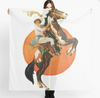 "Cowgirl Kim Vintage Cowgirl Scarf - Large 55"" X 55"" In Stock"