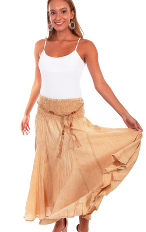 Scully Gathered Maxi Skirt - Khaki