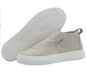 Hey Dude Ladies Peyton Shoe - Beige - Size 8