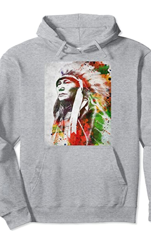 Cowgirl Kim Big Chief Graphic Hoodie Pullover