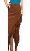 Scully Long Fringe Maxi Shirt