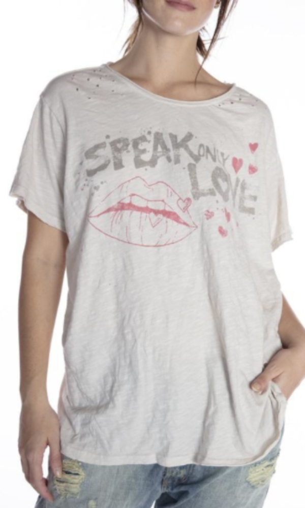 Magnolia Pearl Top 923 Speak Love Tee - Moonlight