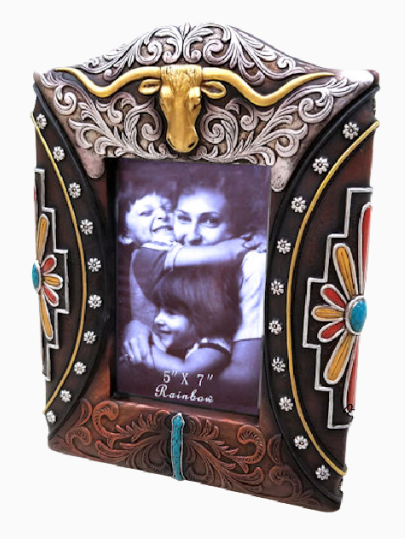 "Cowgirl Kim Longhorn 5""x7"" Picture Frame"