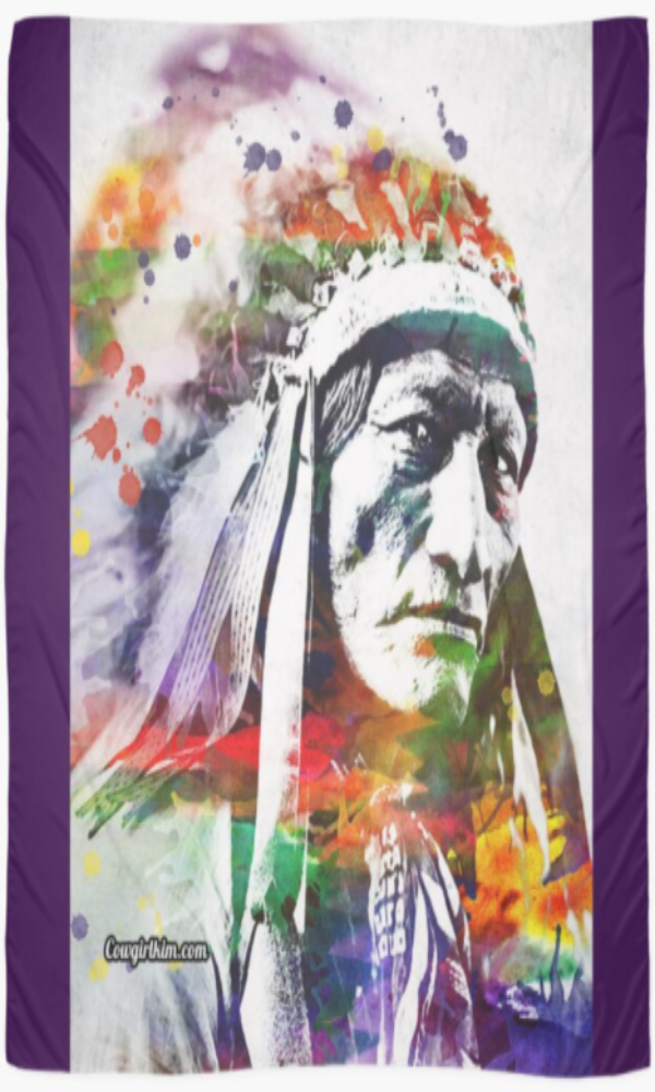 "Cowgirl Kim Chief High Bear, Sioux Scarf - Large 55"" x 55"""