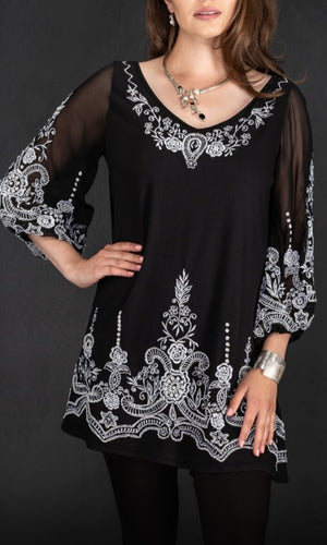 Vintage Collection Midnight in Paris Tunic