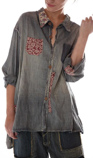 Magnolia Pearl Top 573 Denim Bard Adison Workshirt - Washed Indigo
