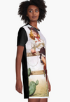 Cowgirl Kim Pin-Up Cowgirl Graphic Tee Dress