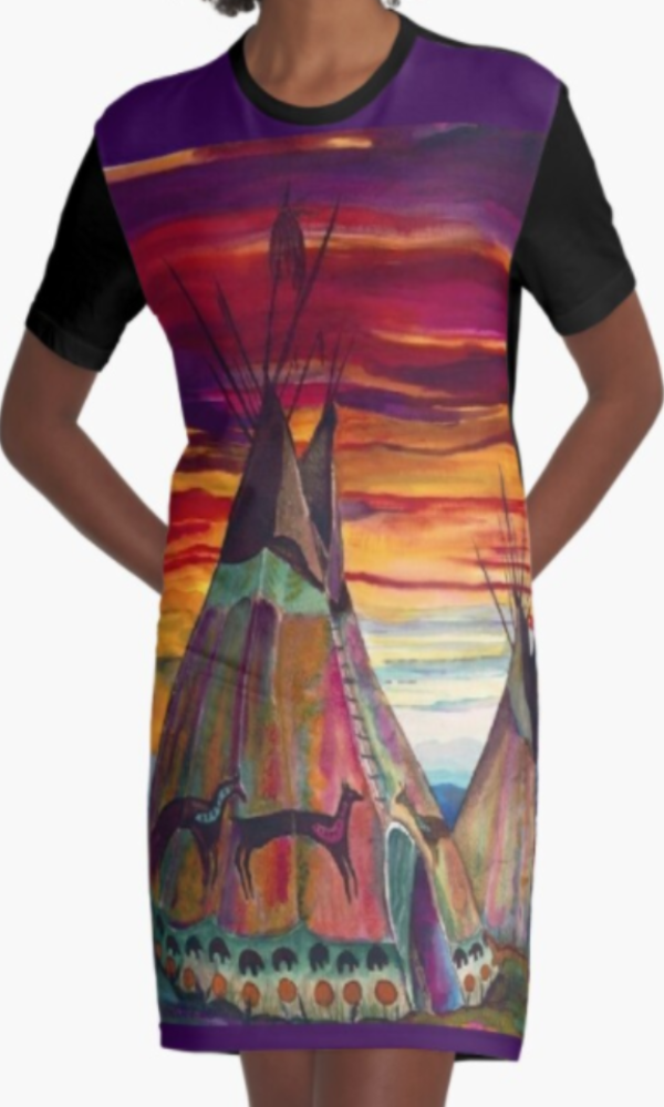 Cowgirl Kim Teepee Graphic Tee Dress